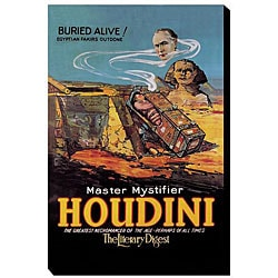 'Literary Digest: Houdini Buried Alive' Canvas Art