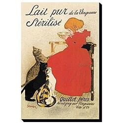 'Lait Pur La Sterilise -Good Milk For The Cats' Giclee Canvas Art