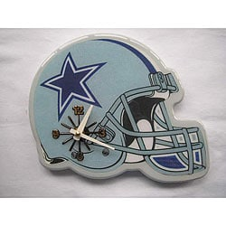 Sports Memorabilia NFL Dallas Cowboys Helmet-style Analog Wall Clock