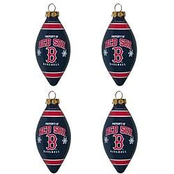 Boston Red Sox Teardrop Ornaments (Set of 4) 5982195