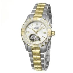 Bulova Women's BVA Series Two-tone Stainless Steel Automatic Diamond Watch