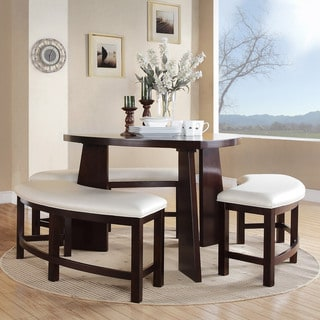 ETHAN HOME Paradise Merlot Triangle Shaped 4-piece Dining Set