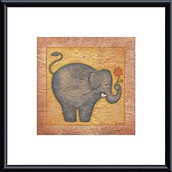 Beth Logan 'Elephant' Metal Framed Art Print