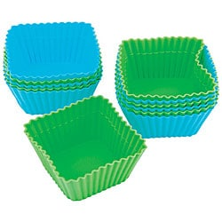 Silicone 'Square' Baking Cups (Pack of 12) 6006213