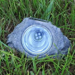 Garden Deco Solar Rock Spot Light (Set of 6)