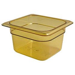 Cambro Sixth Size Amber High Heat Pan