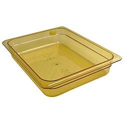 Cambro Half Size 2.5-in Deep Amber High Heat Pan
