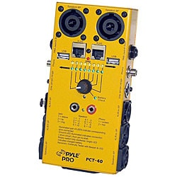 PylePro 12-plug Pro Audio Cable Tester