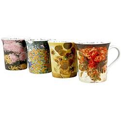 Konitz 'Les Fleurs Chez' 12-ounce Assorted Design Mugs (Set of 4) 6034324
