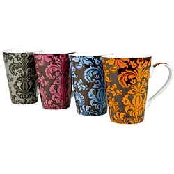 Konitz 'Rocaille' 13-oz Assorted Color Mugs (Set of 4) 6034330
