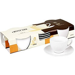 Konitz Coffee Bar 7-oz Coffee Cups and Saucers (Set of 2) 6034357