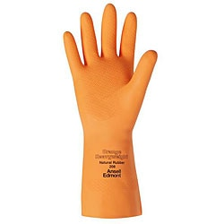Ansell Protective Product Large Orange Latex Gloves (1 Pair)