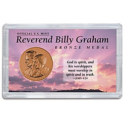 American Coin Treasures Official U.S. Mint Billy Graham Medal Case