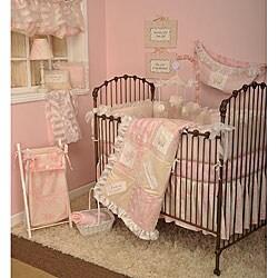 Cotton Tale Girls 4-piece Pink Crib Bedding Set in Heaven Sent