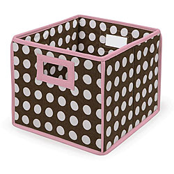 Brown Polka Dot Folding Storage Baskets (Pack of 3) 6097500
