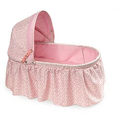 Badger Basket Rosebud Fabric Folding Doll Cradle 6097507