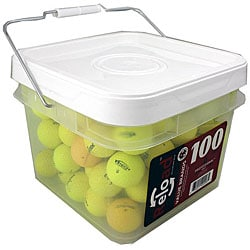 Red Labeled Yellow Recycled Golf Balls (Pack of 100)