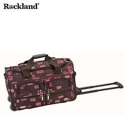 Rockland Chocolate 22-inch Rolling Duffel Bag