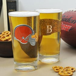 Browns NFL Pint Glasses (Set of 2)