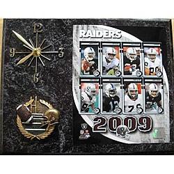 Oakland Raiders Team Picture Plaque Clock