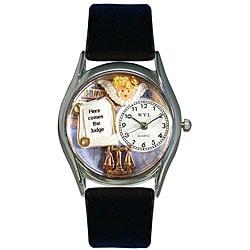 Whimsical Women's Judge Theme Small Silvertone Watch