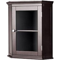 Classique Espresso Corner Wall Cabinet