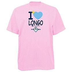 Official Evan Longoria Women's 'I heart Longo' Pink T-shirt 6219442