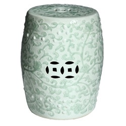 Handmade Celadon Green Porcelain Garden Stool (China)