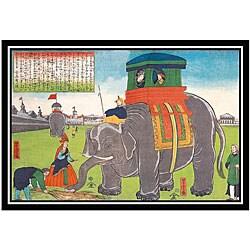 'Elephant Lunch - Japan' Framed Art Print