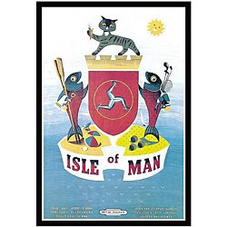 'Isle of Man Fisheries' Framed Art Print