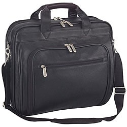 Italy Executive Black Leather Portfolio Laptop Cases (Pack of 6)