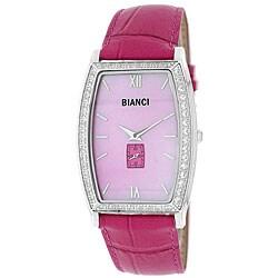 Roberto Bianci Women's Cubic Zirconia/ Mother of Pearl Dial Watch
