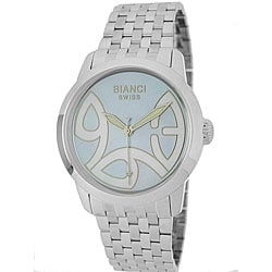 Roberto Bianci Unisex Blue Mother of Pearl European Dial Watch