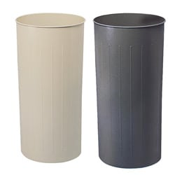 Safco Tall Round Wastebasket (Pack of 3)