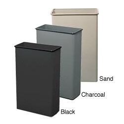 Safco Tall Rectangular Wastebaskets (Pack of 3)