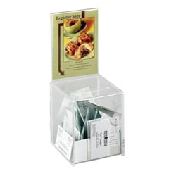 Safco Small Clear Acrylic Collection Box