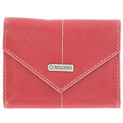 Rolodex Red Personal Business Card Holder