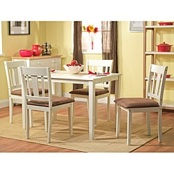 Stratton White 5-piece Dining Set