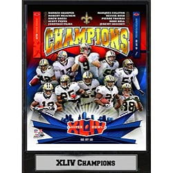 Super Bowl XLIV Champion New Orleans Saints Plaque 6413232