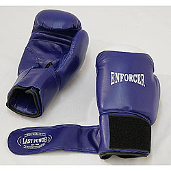 Blue Pair Pro Boxing Gloves