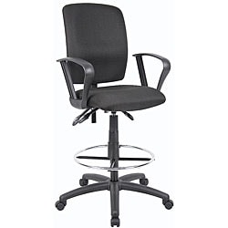 Boss Multifunctional Loop Arm Fabric Drafting Stool 6436409