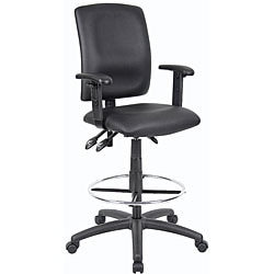 Boss LeatherPlus Multi-function Drafting Stool