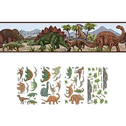 Dinosaur Self-adhesive Decor Set
