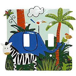 Monkey Kingdom Double Switch Plates (Set of 6)