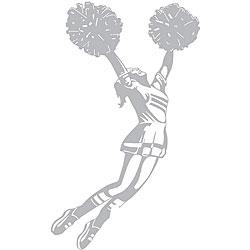 Cheerleader Sudden Shadows Wall Decal