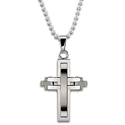 Stainless Steel Moving Pieces Cross Necklace