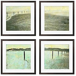 Sara Abbott 'Beach Series I-IV' Giclee Framed Prints (Set of 4)
