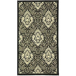 Safavieh Indoor/ Outdoor St. Barts Black/ Sand Rug (6'7 x 9'6)