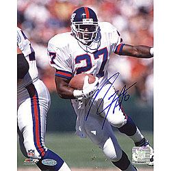 Rodney Hampton Rushing NFL 8x10 Signed Photograph
