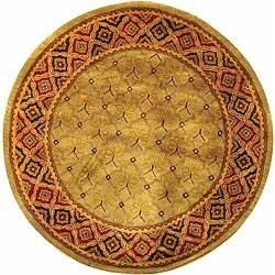 Safavieh Handmade Classic Tress Slate Wool Rug (8' Round)